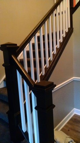 Java Gell stained staircase in Bettendorf IA by Rodney Shambaugh