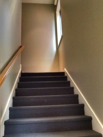 Commercial Painter rodney Shambaugh paints Renew Molines 3 story stairwell